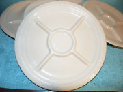 5 Syracuse Chop Grill Plate Divided Tan Dishes Fondue Restaurant Ware