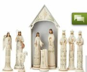 """Hand Signed By Jim Shore A Time For Joy 10pc 18.75"""" Nativity Set Limited 191/435"""