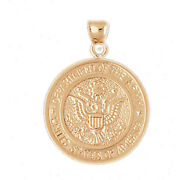 New Real Solid 14k Gold Usa Dept Of The Army Medallion