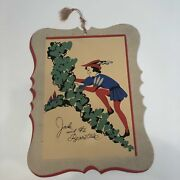 Charming Vintage Jack And The Beanstalk Die-cut Poster With Hanger Cord