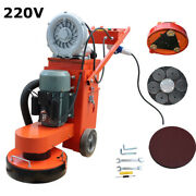 Floor Grinder With Fan Industry Tools Heavy Duty Concrete Grinding Machine 220v