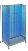 Styrene H-unit Pegboard Floor Display In Blue 36w X 66h Inches