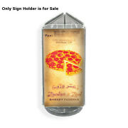 Acrylic Clear 3 Sided Sign Holder 4w X 10h Inches With Black Revolving Base