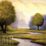 35wx35h Lavender Sunrise I By Gregory Williams - Streams Choices Of Canvas