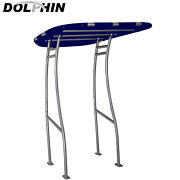 Dolphin Pro Plus Boat T Top W/ Navy Blue Canopy -fit Small To Medium Size Boat