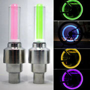 Flash Tyre Wheel Valve Cap Light For Motorbicycle Bicycle Suv Colorful Led Lamp