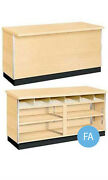 Metal Framed Service Counter In Maple 4 Foot And 48l X 34h X 24d Inches