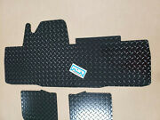 Honda Pioneer 700-4 Front Floor Mats Boards 2 Pc Dia Plate Front And Rear Black