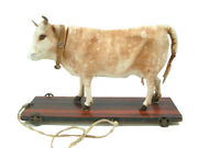 Antique Moo Cow Pull Toy