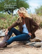 Scully Cheyenne Plus 1x 2x Jacket Suede Fringe Rodeo Southwest Chocolate Brown