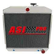 4 Row Aluminum Radiator For 1955-1957 Chevy Bel Air Nomad 210 150 V8 Engines Pro