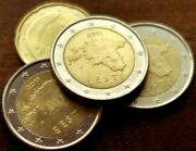 Estonia Euro Coins Glossy Poster Picture Photo Money Currency Eesti Golden 1043