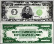 Ten Thousand Dollar Bill Glossy Poster Picture Photo Chase Coins 10000 Money 115