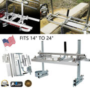 Chainsaw Mill 14-24 Portable Chain Saw Mill Aluminum Steel Planking Lumber