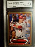 Mike Trout All-star Game 2012 Topps Update Gold Us144 /2012 Gma Gem Mint 10