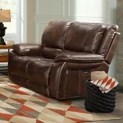Parker Living - Vail Burnt Sienna Leather Dual Reclining Power Loveseat - Mva...