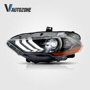 Vland Pair For Ford Mustang 2018 2019 All Led Headlights Replacement Head Lamp