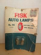 Fisk Tire Auto Lamps Card Of 2 194 Bulb Advertising