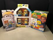 Despicable Me Minions Crayola Airbrush Exclusive 5 Action Figures Baby Carl