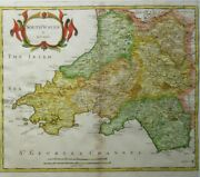 Antique Map Of South Wales By Robert Morden 1695