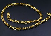 Certified 22kt Handmade Gorgeous Unisex Chain Necklace 22 Inches Long Link Chain