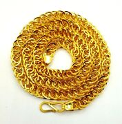 22k Genuine Gold Handmade Foxtail Chain Necklace Flexible Amazing Gifiting Chain