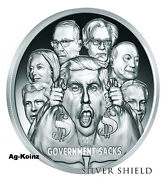 1 Oz 2017 Government Sacks Proof Death Of The Dollar 9 Silver Shield 999 Trump