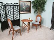 Emerald Rattan Bistro Dining Room Furniture 3 Piece Set Chairs And Table