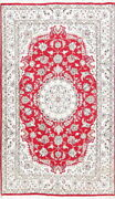 Newtop Quality Decorative Floral 5 X 8 Hand-knotted Wool Silk Oriental Area Rug