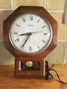 Vintage United Metal Goods Electric Wall Clock, Good Working Condition