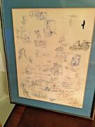 Mike Peters Signed/ Personalized Nixon Cartoon Concept Sheet