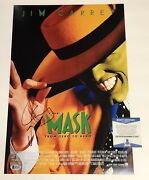 Jim Carrey Signed Autographed The Mask 12x18 Photo Poster Beckett