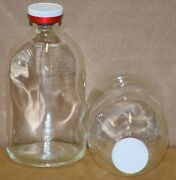 100 Ml Clear Sterile Vial With White On Red Plain Flip Cap Seal 100 Pack