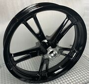Harley Front Trike Freewheeler Glass Black Wheel And Bearing 2014-20 Outright