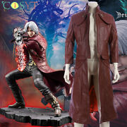 Devil May Cry V 5 Dante Dmc Cosplay Costume Deluxe Leather Cosplay Outfits Lot