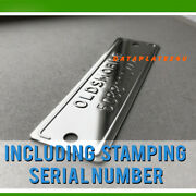 Oldsmobile Replacement Plate Tag Stamped Serial Number Data Classic Car Olds
