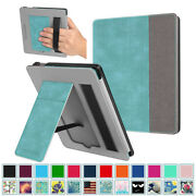 For All-new Kindle Oasis 10th 2019/ 9th 2017 Case Stand Card Slot Hand Strap