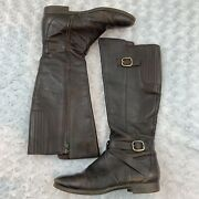 Women's Ugg Austrlaia Beryl Leather Tall Riding Boots Size. 7 Brown