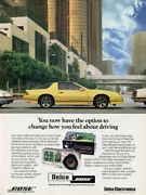 1986 Delco Bose Iroc-z Chevy Camaro Vintage Ad Poster Print 36x27 9mil Paper