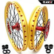 Kke 21/19and039and039 Casting Mx Wheels Rims Set For Honda Xr400r 1996 Xr600r 1991 220mm
