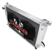 3 Row Best Cooling Champion Radiator W/ 2 12 Fans For 1985 - 1996 Ford F-150