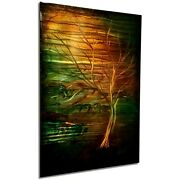 Large Abstract Metal Wall Painting Industrial Modern Contemporary Tree Landscape