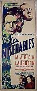 Price Dropped Les Miserables '35 Ins March And Laughton Victor Hugo's Classic
