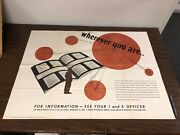 Wherever You Are World War 2 Original Poster Us Education Map Geography Jkt1