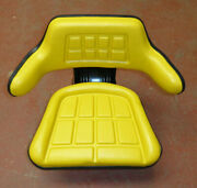 Tractor Seat In Yellow Pvc / Universal Replacement