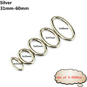 Lot Alloy Oval Spring Clip Carabiner Egg-shaped Ring Keychain Multiple Colour