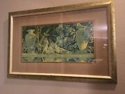 Vintage Framed Maxfield Parrish The Garden Of Allah Print