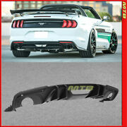Rear Diffuser For Ford Mustang 18-plus Coupe Convertible Black Big Fin Style