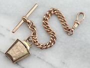 Antique Masonic Scottish Auld Brig Oand039ayr 1252 Watch Chain And Fob