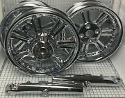 Harley Davidson Tri Glide Trike Rims And Accessories 2014 Chrome Wheels Outright